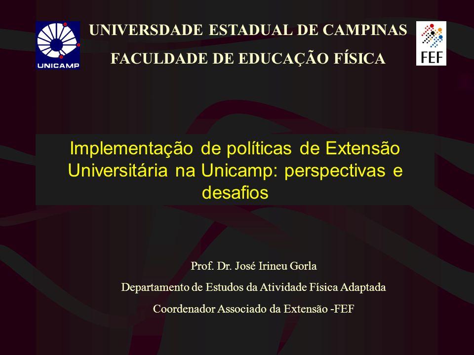 UNIVERSDADE ESTADUAL DE CAMPINAS FACULDADE DE EDUCAÇÃO FÍSICA