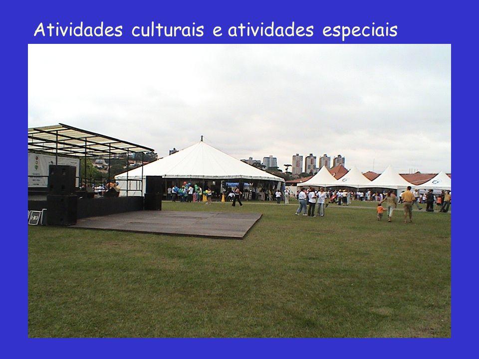 Atividades culturais e atividades especiais