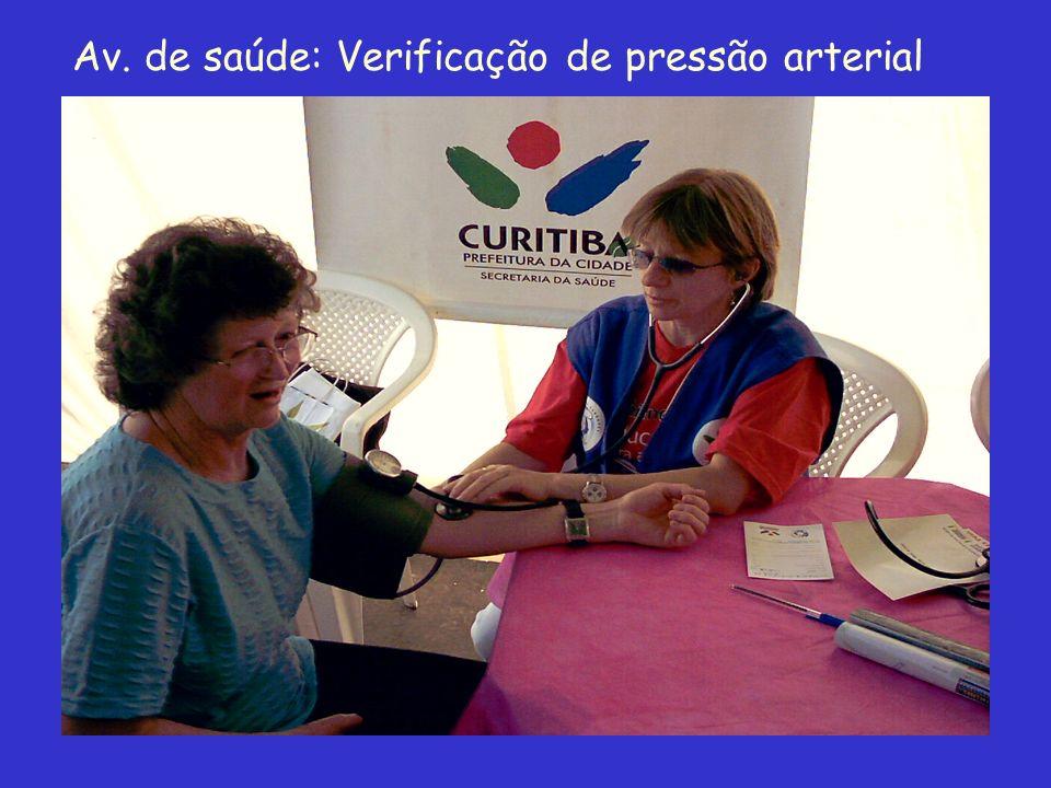 Av. de saúde: Verificação de pressão arterial