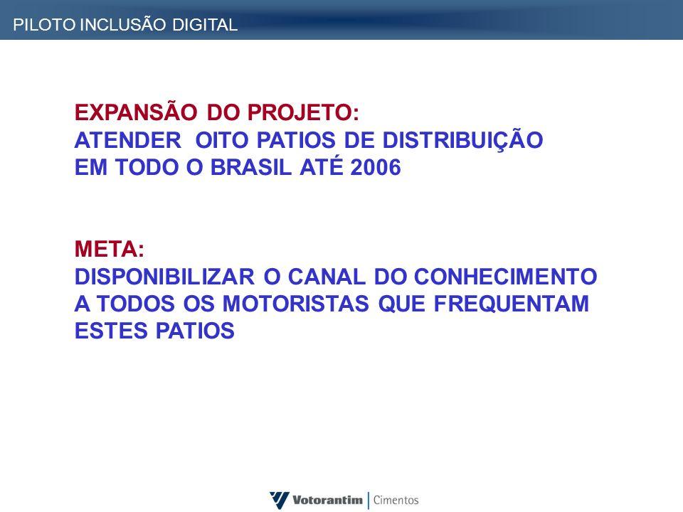 ATENDER OITO PATIOS DE DISTRIBUIÇÃO EM TODO O BRASIL ATÉ 2006