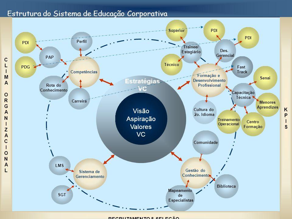 Estrutura do Sistema de Educação Corporativa