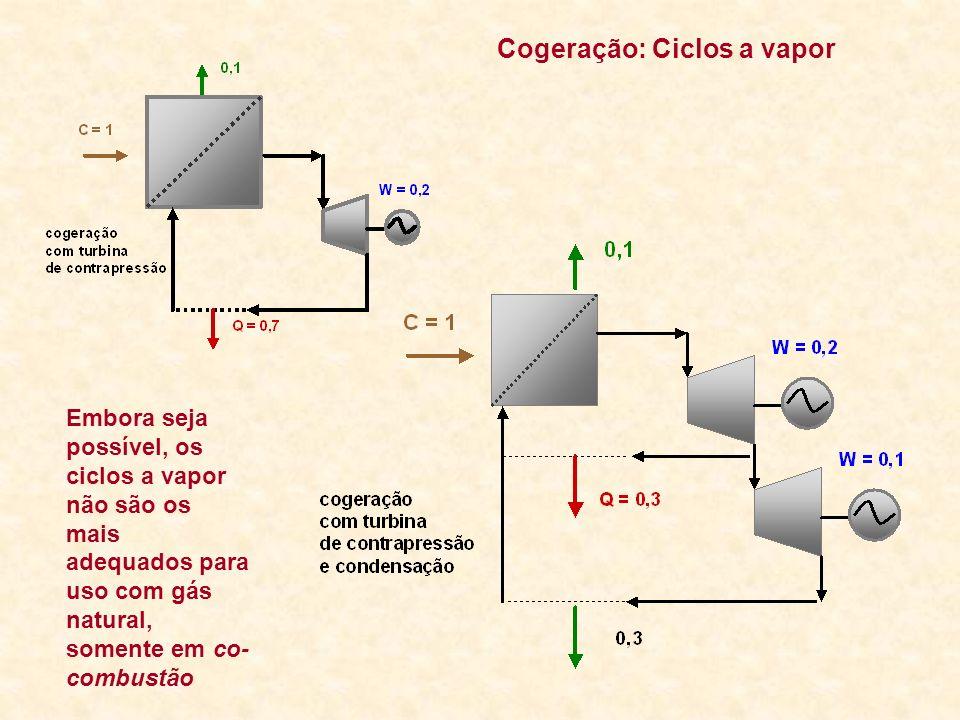 Cogeração: Ciclos a vapor