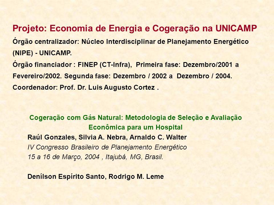Projeto: Economia de Energia e Cogeração na UNICAMP