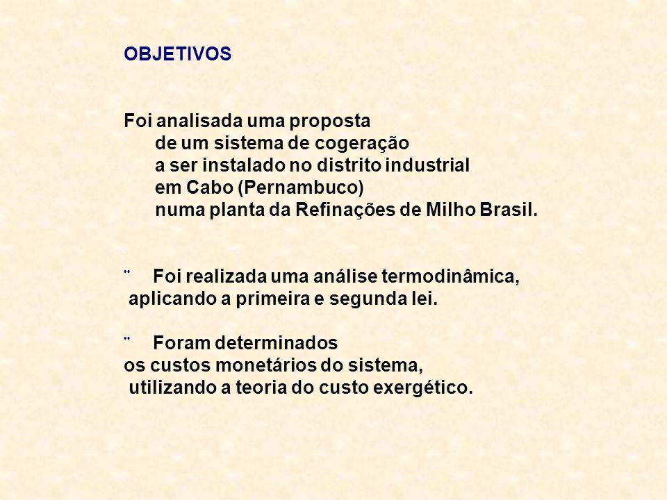 OBJETIVOSFoi analisada uma proposta. de um sistema de cogeração. a ser instalado no distrito industrial.