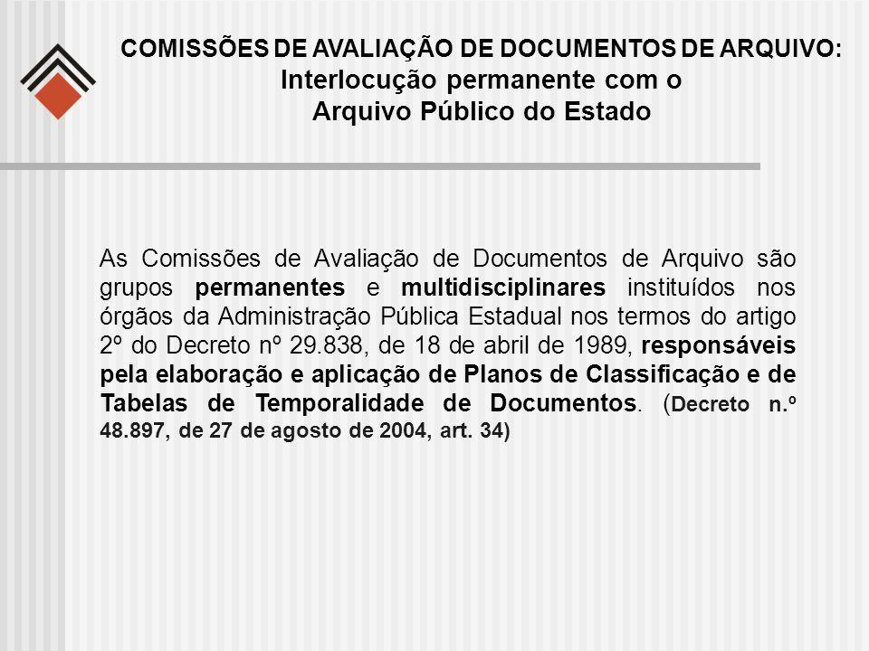 Interlocução permanente com o Arquivo Público do Estado