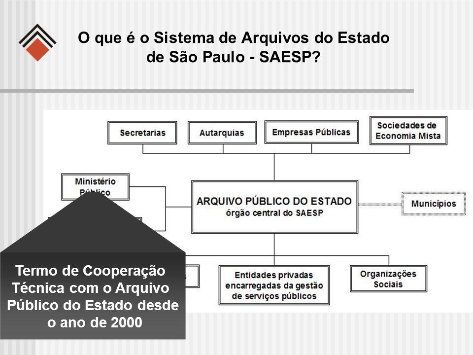 O que é o Sistema de Arquivos do Estado de São Paulo - SAESP