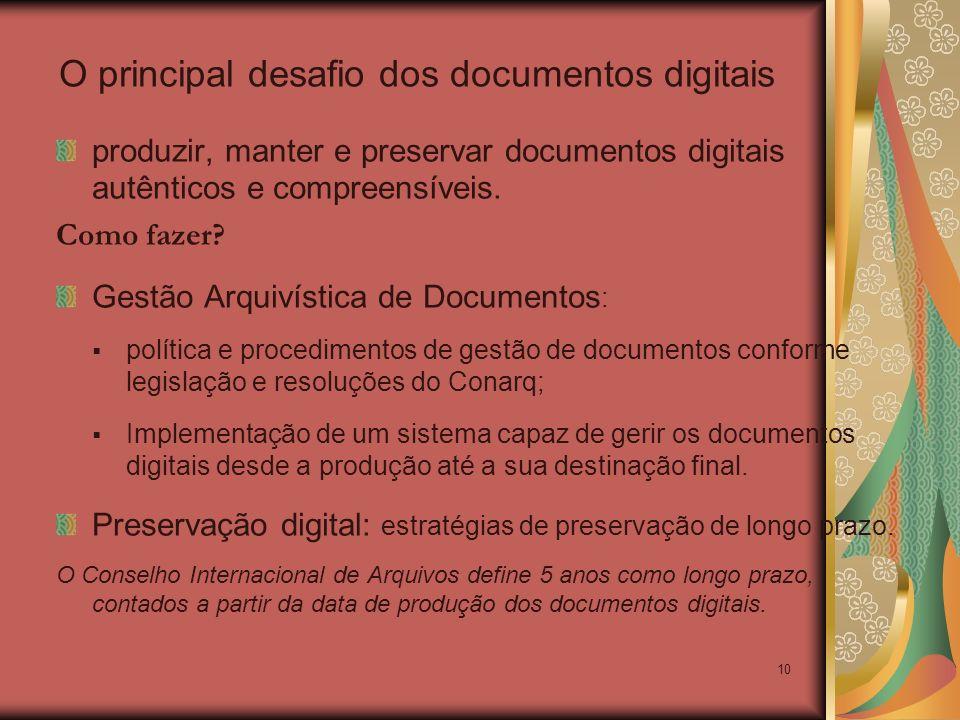 O principal desafio dos documentos digitais