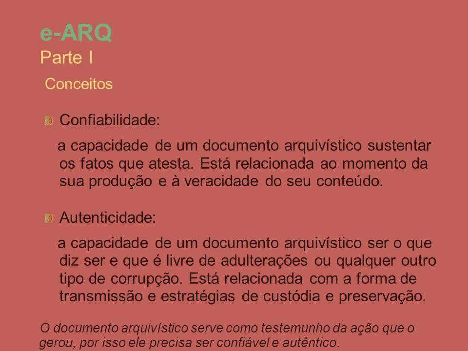 e-ARQ Parte I Conceitos Confiabilidade: