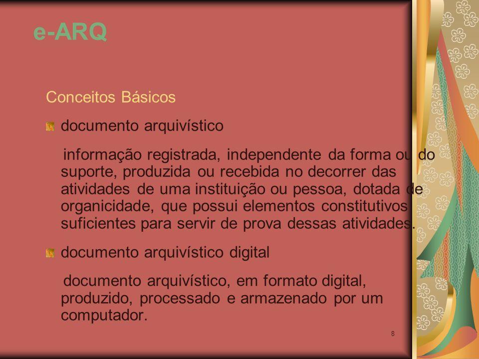 e-ARQ Conceitos Básicos documento arquivístico