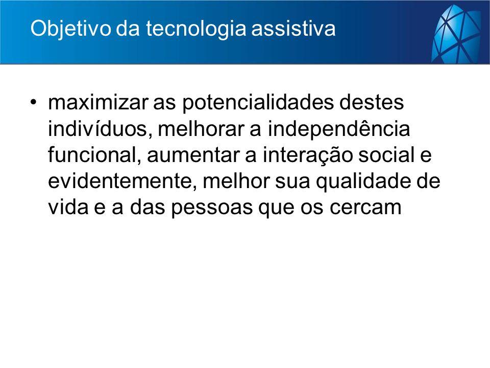 Objetivo da tecnologia assistiva