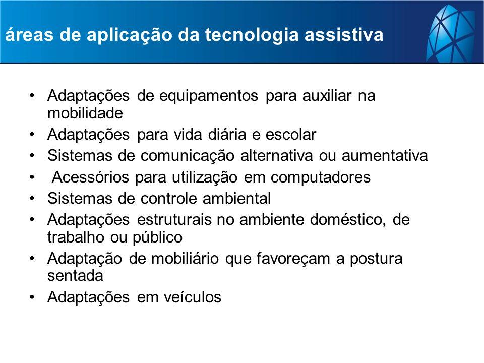 áreas de aplicação da tecnologia assistiva