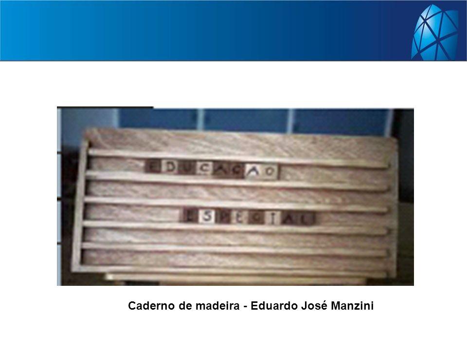 Caderno de madeira - Eduardo José Manzini