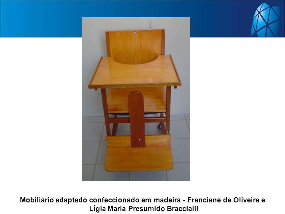 Mobiliário adaptado confeccionado em madeira - Franciane de Oliveira e