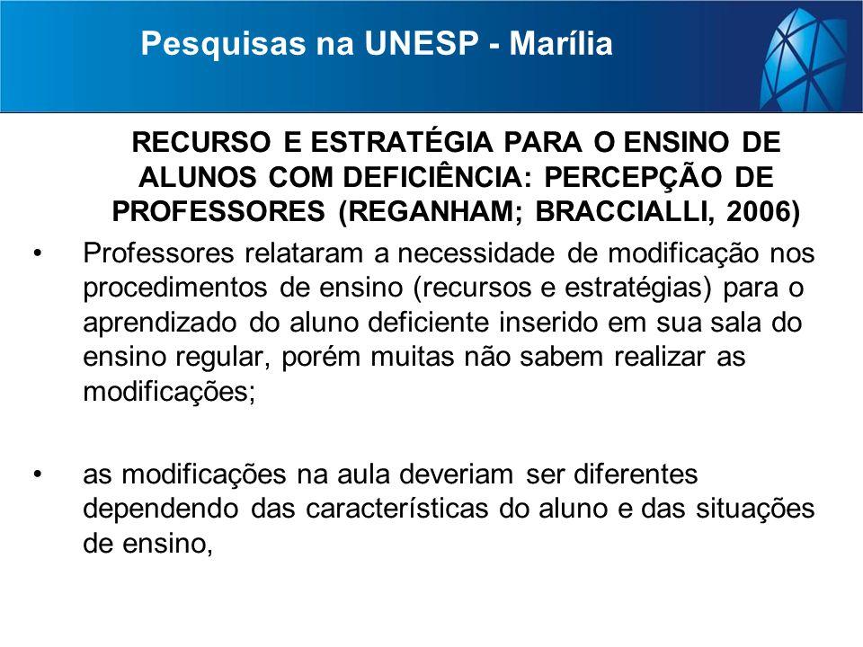 Pesquisas na UNESP - Marília