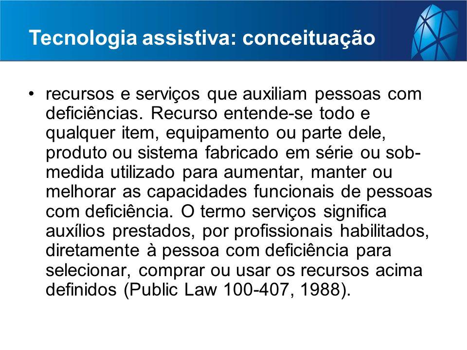 Tecnologia assistiva: conceituação