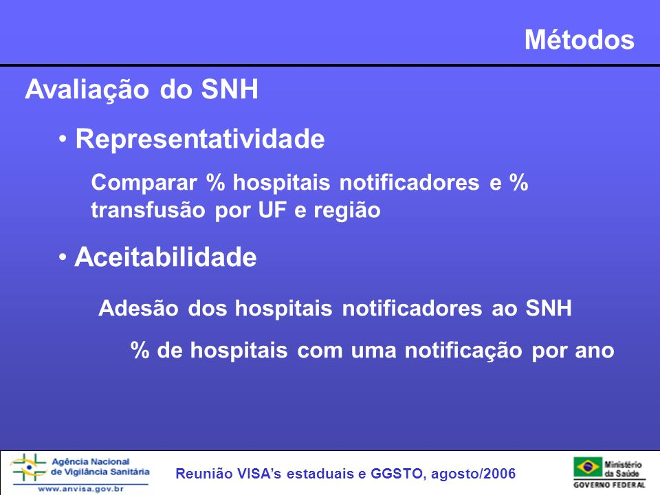 Adesão dos hospitais notificadores ao SNH