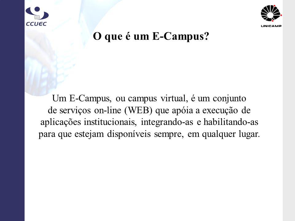 O que é um E-Campus Um E-Campus, ou campus virtual, é um conjunto
