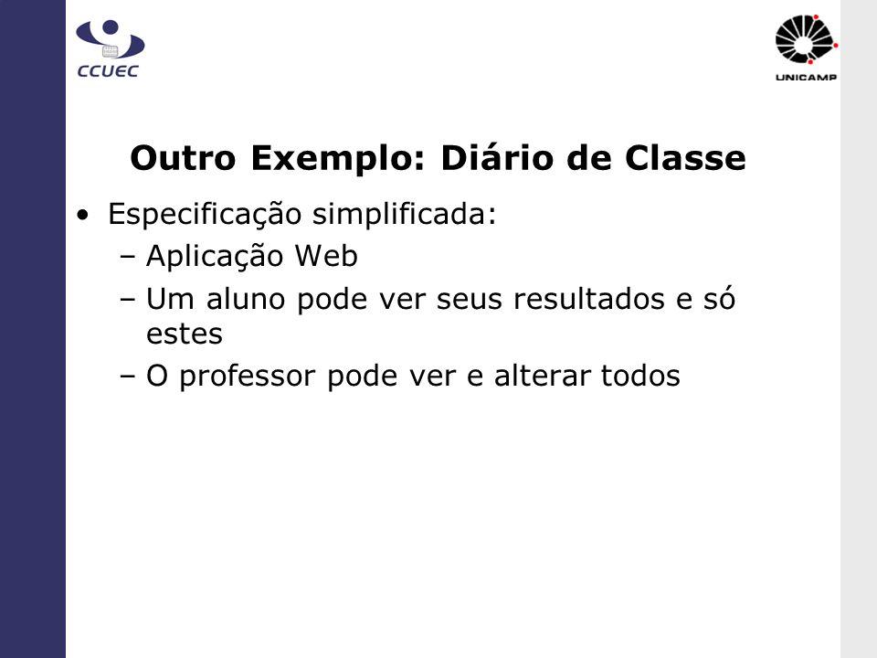Outro Exemplo: Diário de Classe