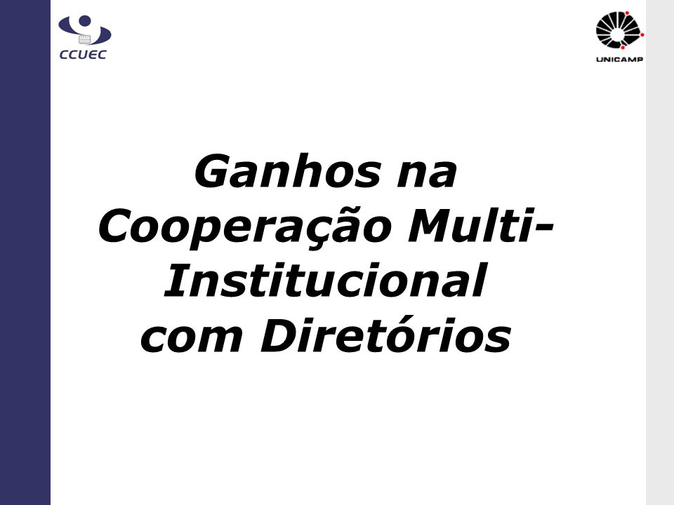 Ganhos na Cooperação Multi-Institucional com Diretórios