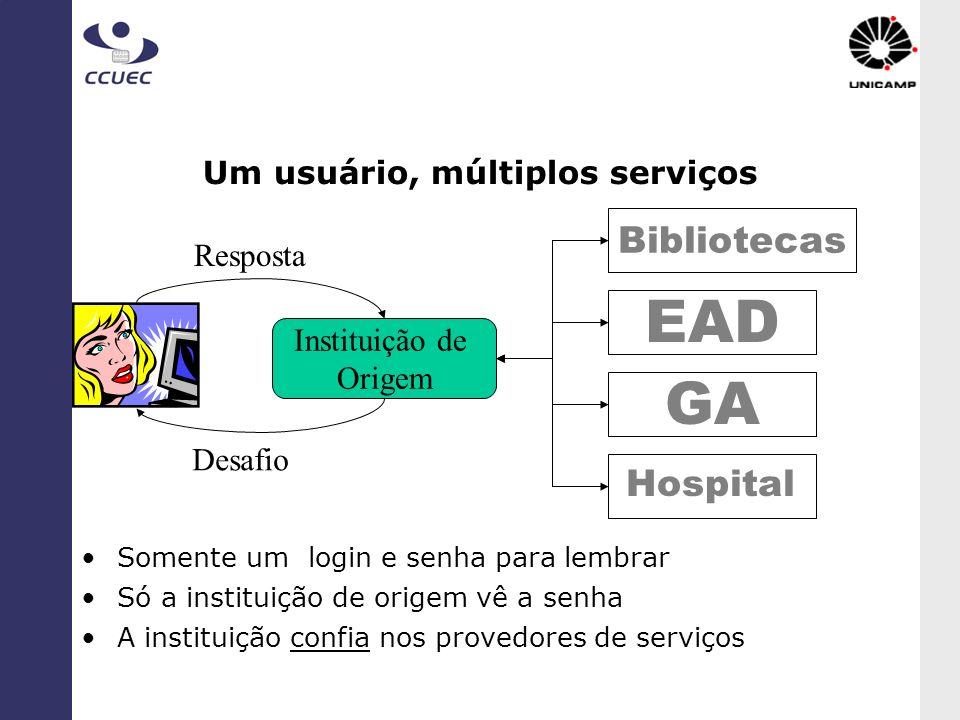 Um usuário, múltiplos serviços
