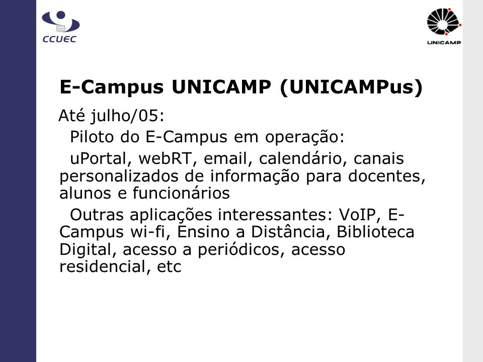 E-Campus UNICAMP (UNICAMPus)