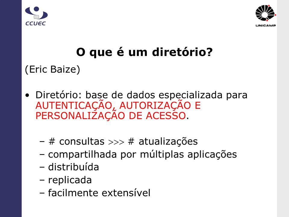 O que é um diretório (Eric Baize)