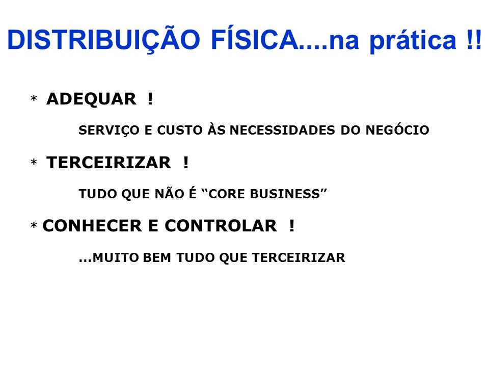 DISTRIBUIÇÃO FÍSICA....na prática !!
