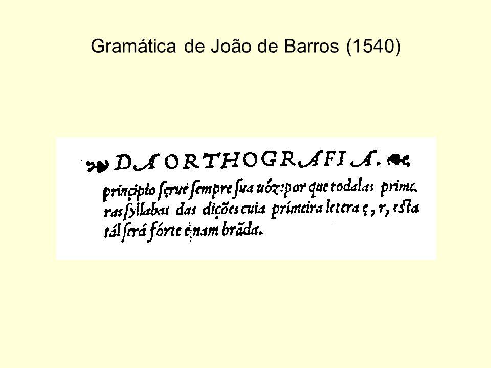 Gramática de João de Barros (1540)