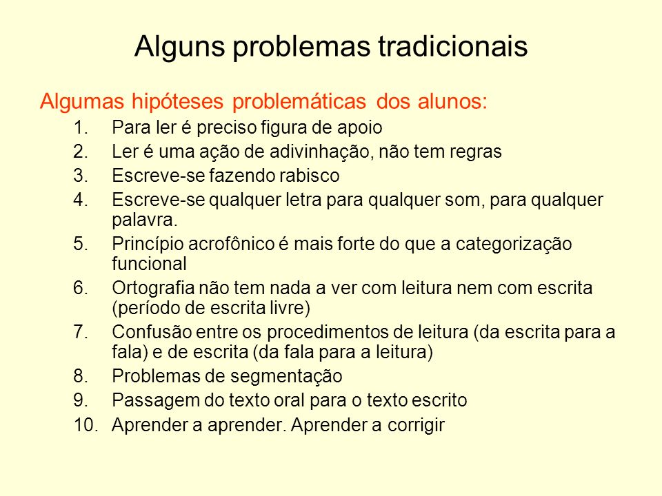 Alguns problemas tradicionais