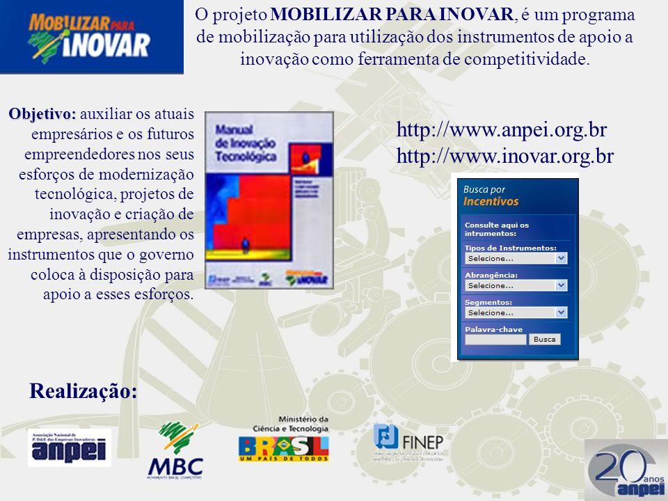 http://www.anpei.org.br http://www.inovar.org.br Realização:
