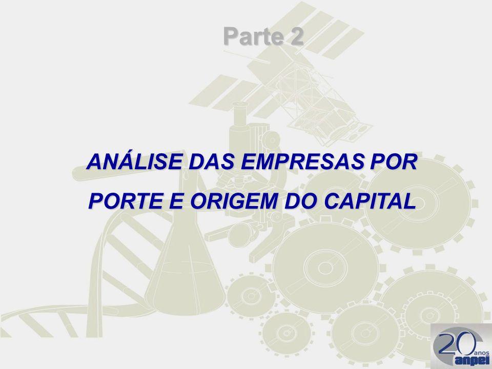 ANÁLISE DAS EMPRESAS POR PORTE E ORIGEM DO CAPITAL