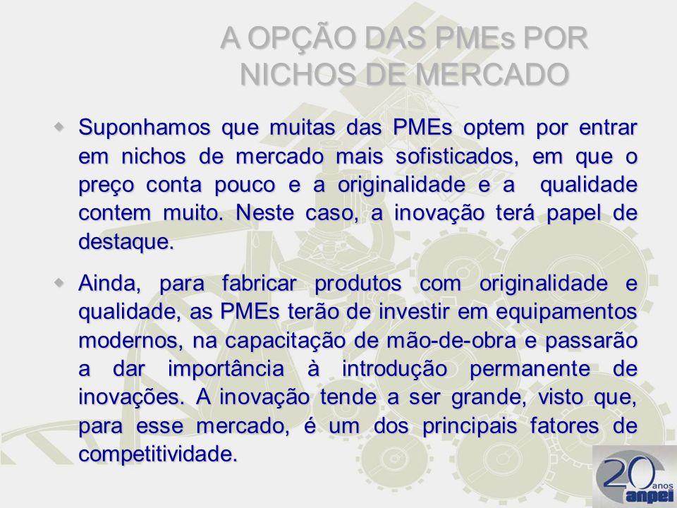 A OPÇÃO DAS PMEs POR NICHOS DE MERCADO