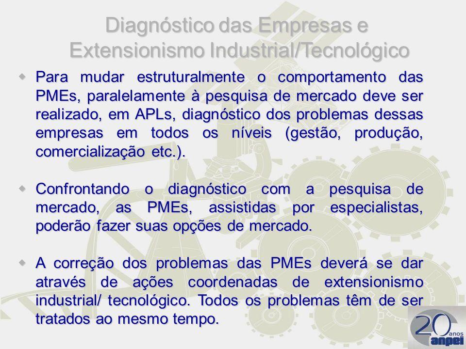Diagnóstico das Empresas e Extensionismo Industrial/Tecnológico