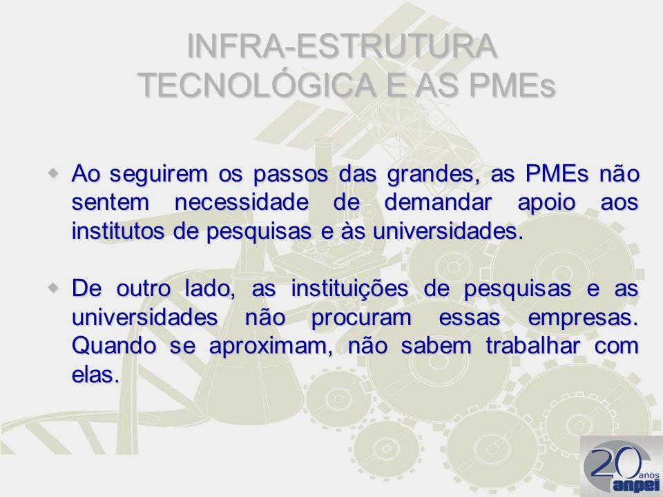 INFRA-ESTRUTURA TECNOLÓGICA E AS PMEs