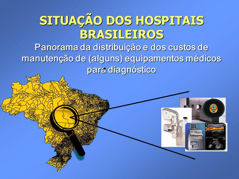 SITUAÇÃO DOS HOSPITAIS BRASILEIROS Panorama da distribuição e dos custos de manutenção de (alguns) equipamentos médicos para diagnóstico