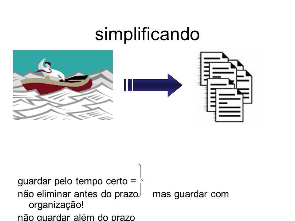 simplificando guardar pelo tempo certo =