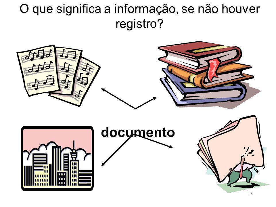 O que significa a informação, se não houver registro