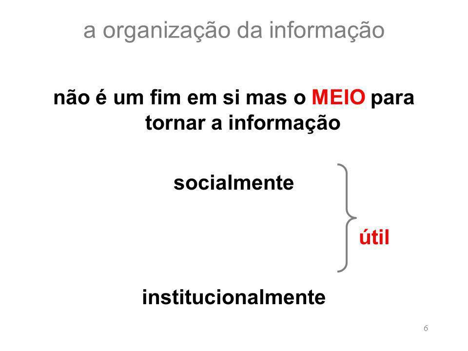 a organização da informação
