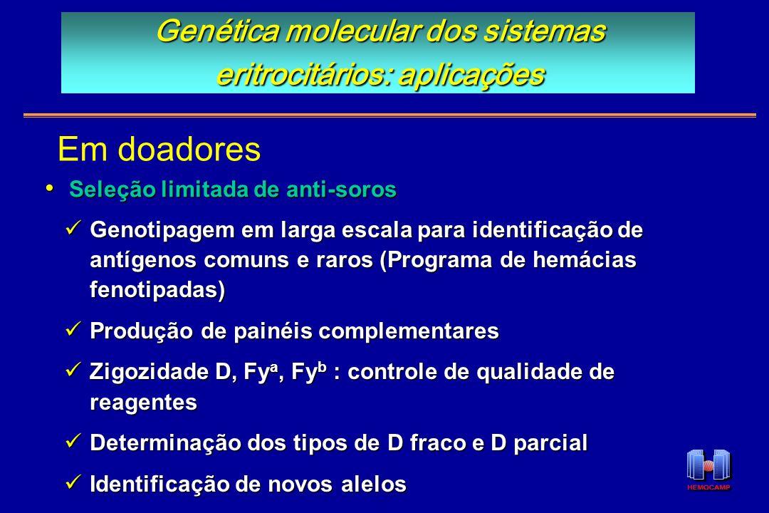 Genética molecular dos sistemas eritrocitários: aplicações