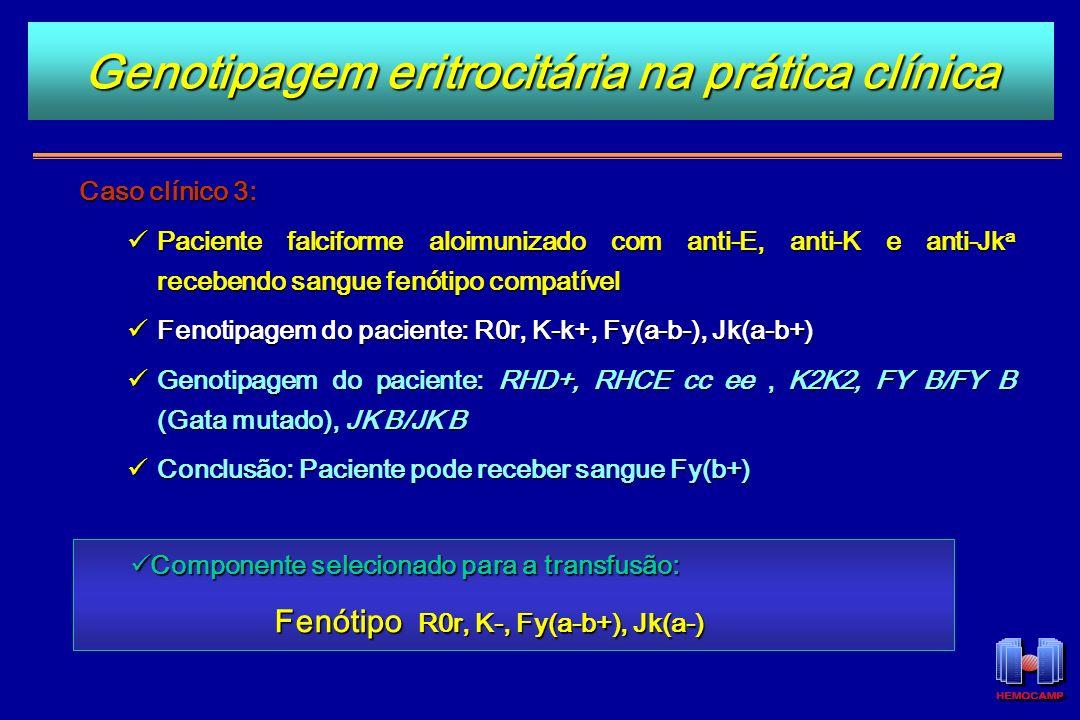 Genotipagem eritrocitária na prática clínica
