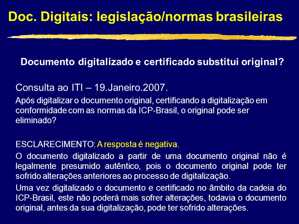 Documento digitalizado e certificado substitui original