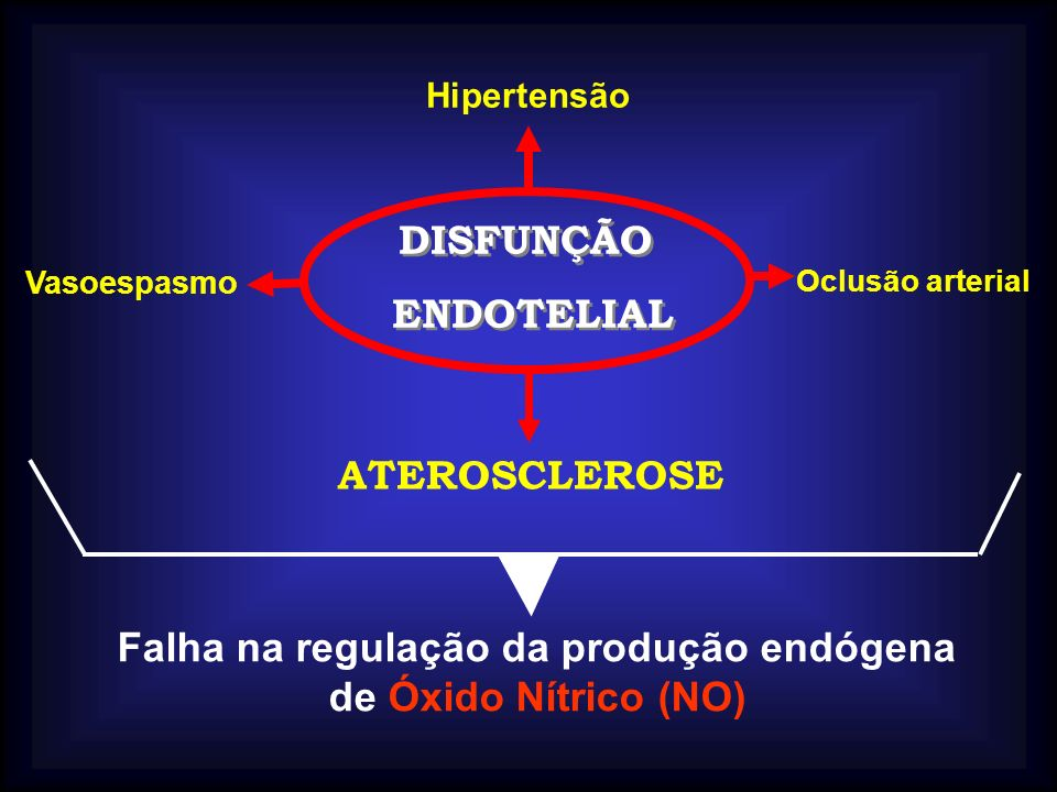 Falha na regulação da produção endógena de Óxido Nítrico (NO)