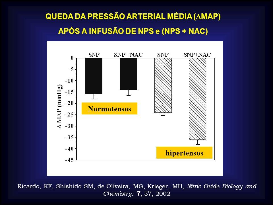 QUEDA DA PRESSÃO ARTERIAL MÉDIA (MAP)