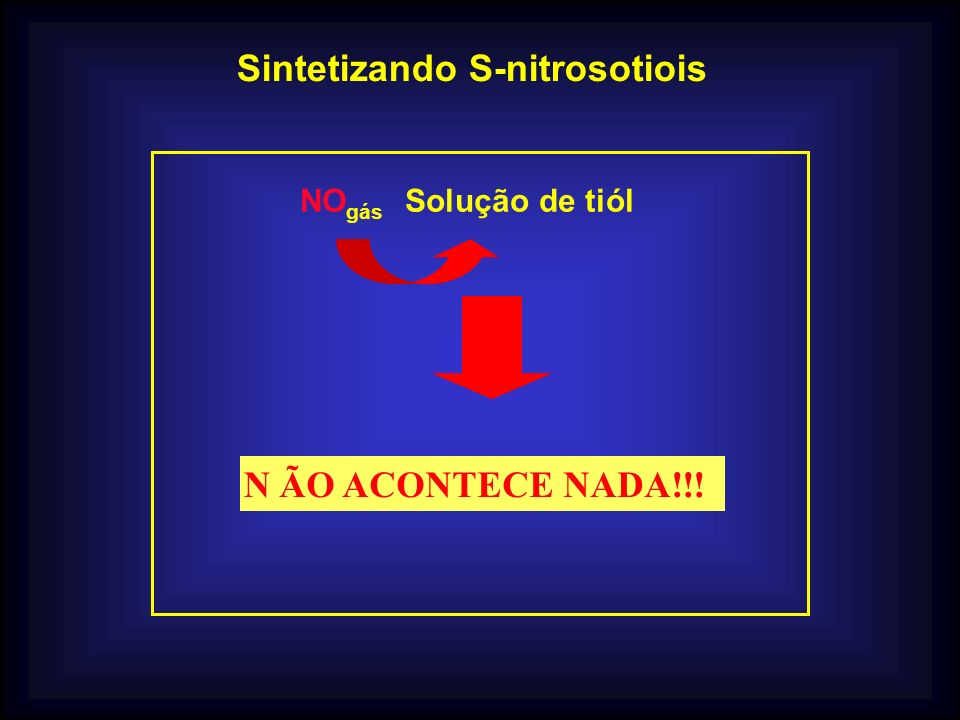 Sintetizando S-nitrosotiois
