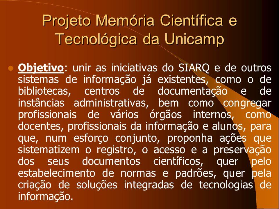 Projeto Memória Científica e Tecnológica da Unicamp