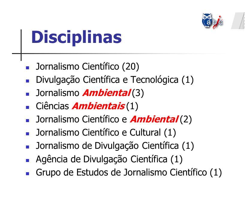 Disciplinas Jornalismo Científico (20)