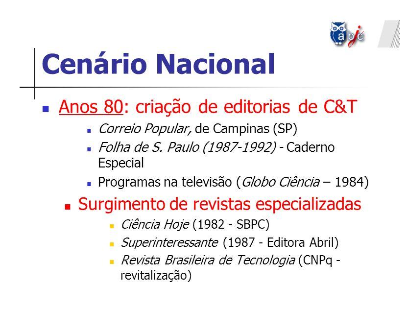 Cenário Nacional Anos 80: criação de editorias de C&T