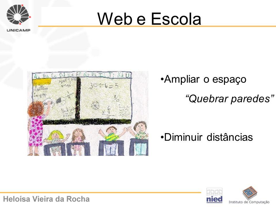 Web e Escola Ampliar o espaço Quebrar paredes Diminuir distâncias