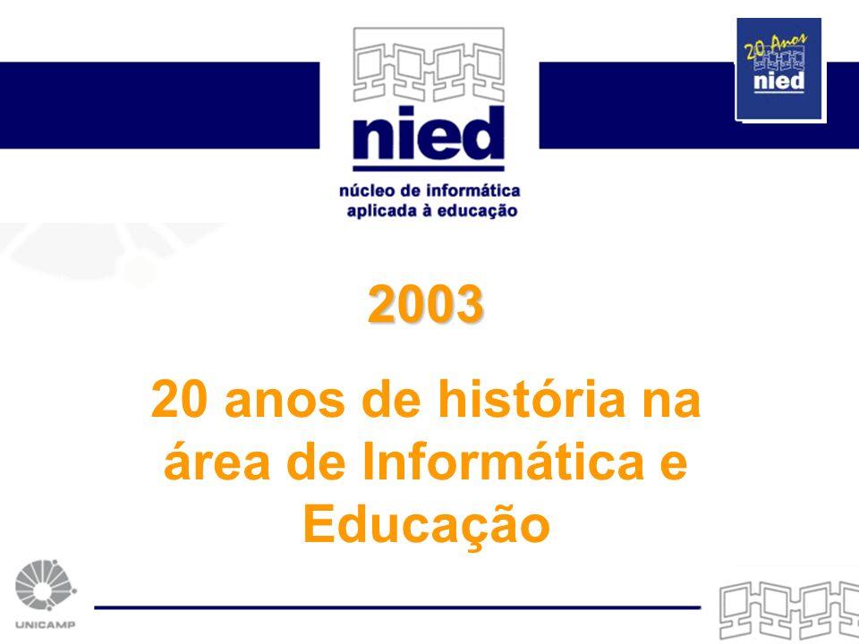 20 anos de história na área de Informática e Educação