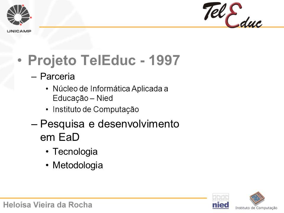 Projeto TelEduc - 1997 Pesquisa e desenvolvimento em EaD Parceria